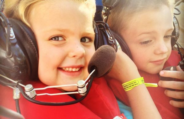Kids close-up with headsets