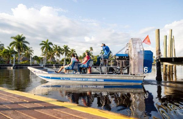 Everglades City Airboat taking off
