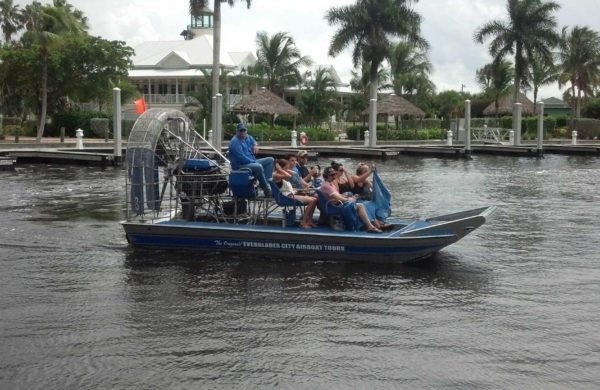 Everglades City Airboat with family