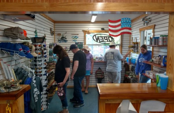 Everglades City Airboat Tours Gift shop with tourists