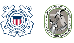 United States Coast Guard seal and Florida Fish and Wildlife Conservation Commission
